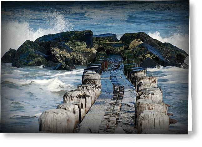 Bay Head Beach Greeting Cards - Surrounded By The Ocean - Jersey Shore Greeting Card by Angie Tirado