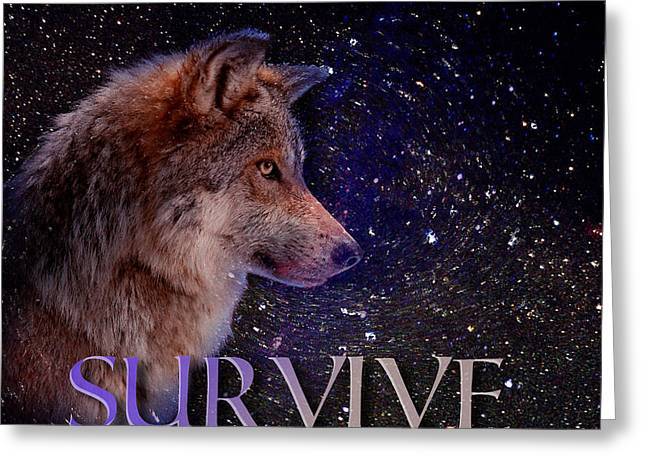 Survive Greeting Cards - Survive in Universe Greeting Card by Yury Malkov