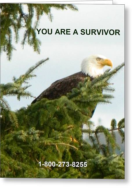 Anti Greeting Cards - Survivor With Lifeline Greeting Card by Gallery Of Hope