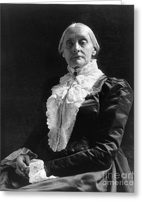 Susan Brownell Anthony Greeting Cards - Susan B. Anthony (1820-1906) Greeting Card by Granger