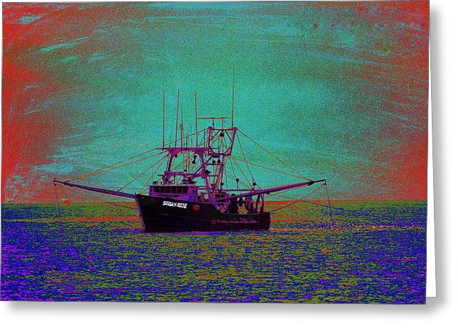Fishing Trawler Greeting Cards - Susan Rose Greeting Card by Richard Henne