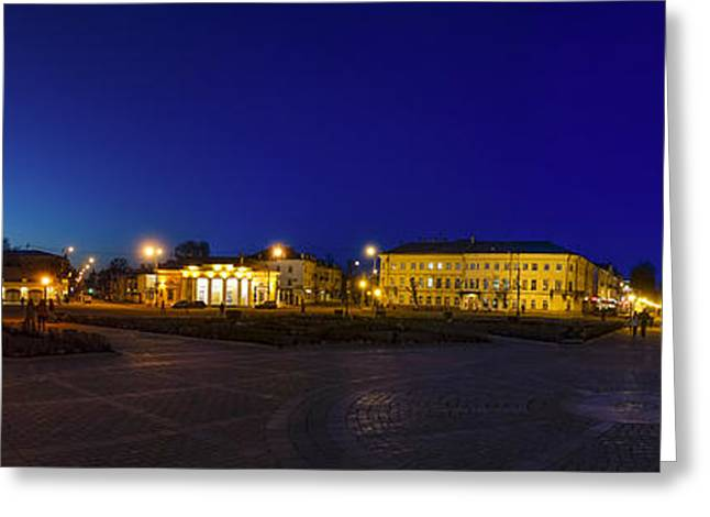Lookout Tower Greeting Cards - Susanin Square in Kostroma Greeting Card by Alexey Stiop