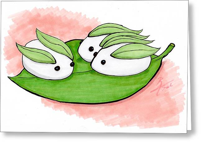 Video Game Food Greeting Cards - Sushi Bunnies Greeting Card by Kenya Thompson