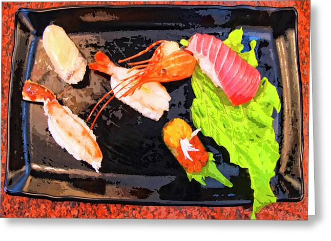 Sushi Plate 2 Greeting Card by Dominic Piperata