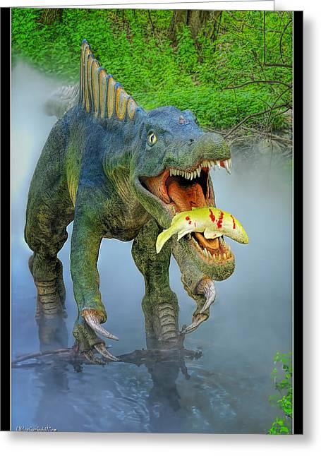 Sushomimus Dinosaur Greeting Card by LeeAnn McLaneGoetz McLaneGoetzStudioLLCcom