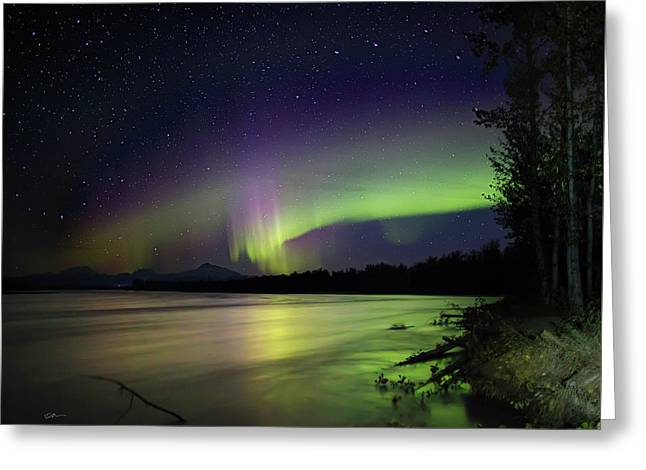 Susitna Glow Greeting Card by Ed Boudreau