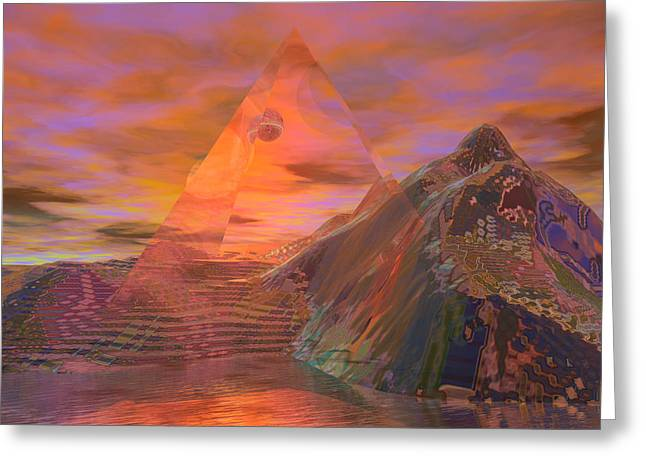 Pyramids Greeting Cards - Suspended Time Greeting Card by Bob  Eige