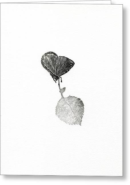 Whites Drawings Greeting Cards - Suspense Greeting Card by Bella Larsson