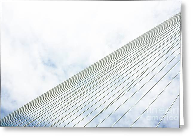 Famous Bridge Greeting Cards - Suspension bridge steel wires Greeting Card by Jan Brons