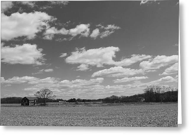 Battlefield Site Greeting Cards - Sutfin House in black and white Greeting Card by Joe Valencia