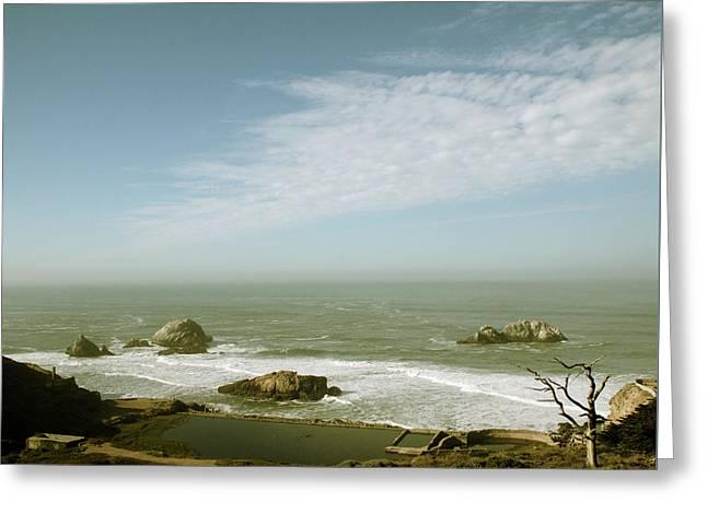 Sutro Baths San Francisco Greeting Card by Linda Woods