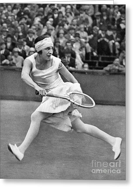 Sportswoman Greeting Cards - Suzanne Lenglen (1899-1938) Greeting Card by Granger
