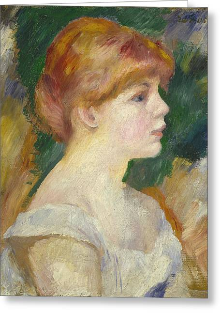 Famous Artist Greeting Cards - Suzanne Valadon Greeting Card by Auguste Renoir