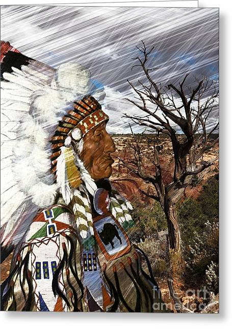 Liane Wright Greeting Cards - SW Indian Greeting Card by Liane Wright