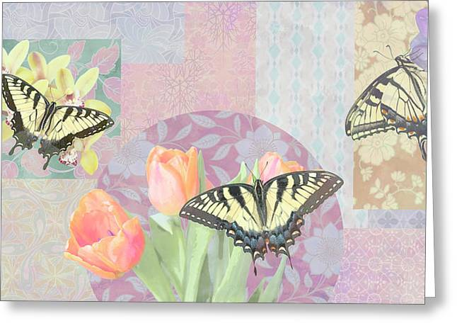 Butterfly Plant Greeting Cards - Swallowtail Butterfly 3 Pastel Greeting Card by JQ Licensing