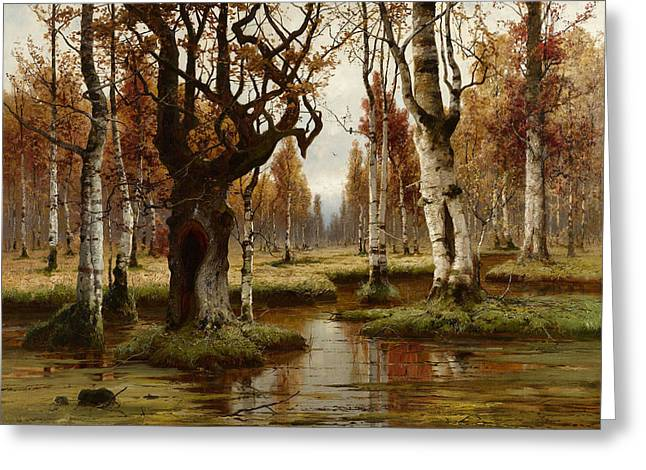 Swamp Greeting Card by Julius Sergius