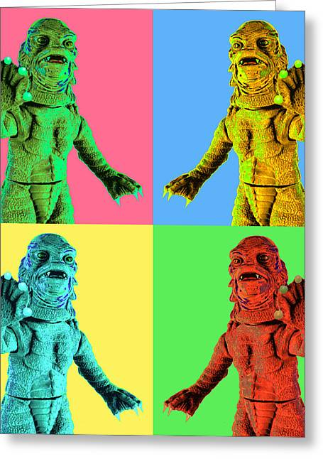 Creature From The Black Lagoon Greeting Cards - Swampthing Greeting Card by L S Keely