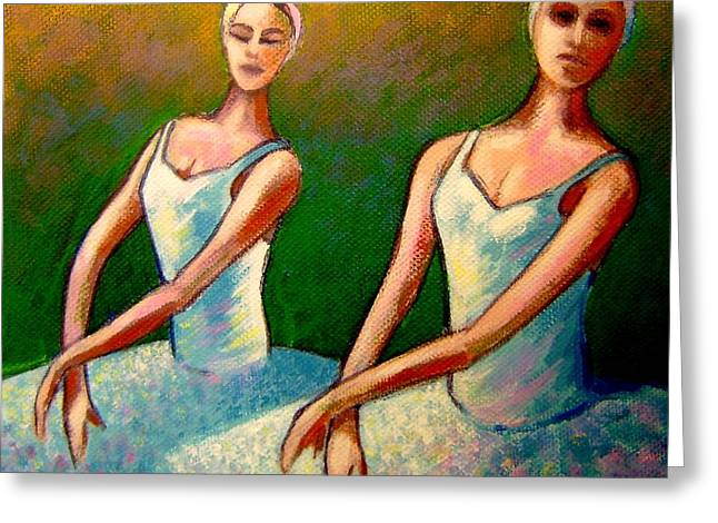 Dancer Art Greeting Cards - Swan Lake I Greeting Card by John  Nolan