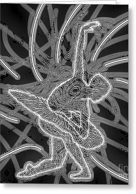 Ballet Dancers Drawings Greeting Cards - Swan Lake Power 266 Wd2 L Greeting Card by Dale Crum