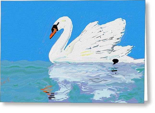 Reflex Greeting Cards - Swan wan Greeting Card by Mahdi Fallah