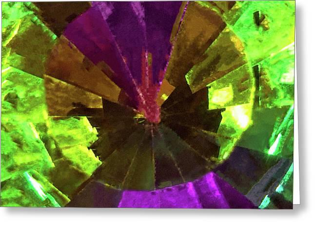 Swarovski Vitrail Medium Crystal - The Art Glass Project Greeting Card by Susan Maxwell Schmidt