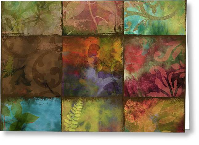 Swatchbox II Greeting Card by Mindy Sommers