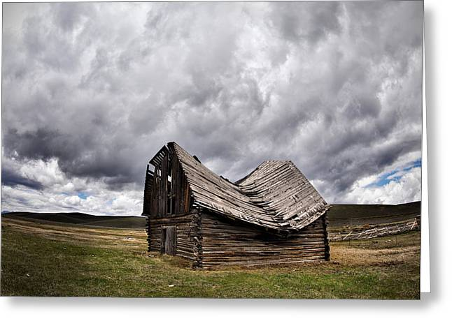 Old Cabins Greeting Cards - Sway Back Greeting Card by Leland D Howard