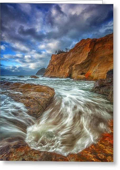Sweeping Tides Greeting Card by Darren  White