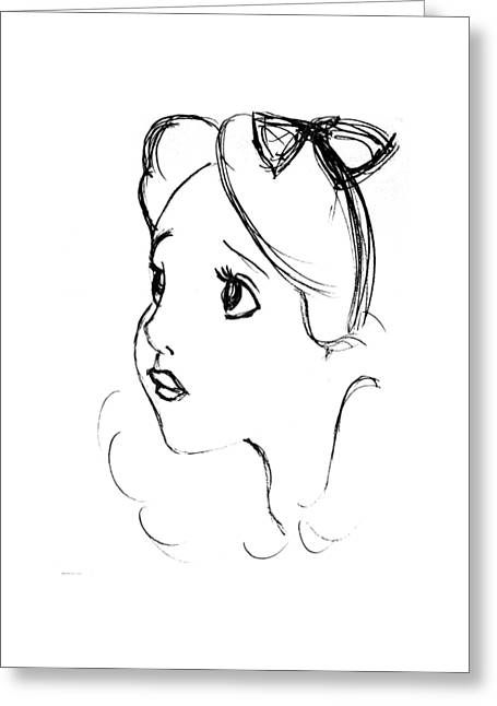 Character Portraits Greeting Cards - Sweet and innocent Greeting Card by Gillian Singleton