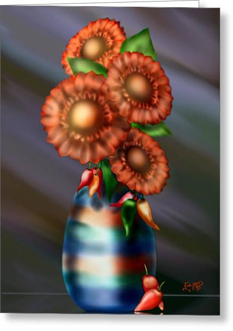 Sweet And Spicy Greeting Card by Karla White
