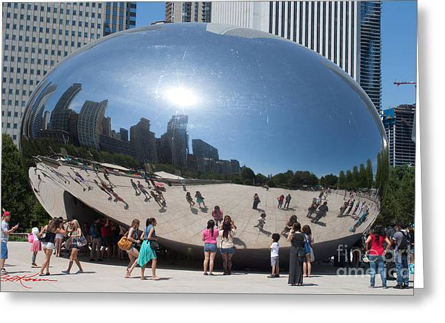 The Bean Greeting Cards - Sweet Bean Chicago Greeting Card by Roy Kaelin
