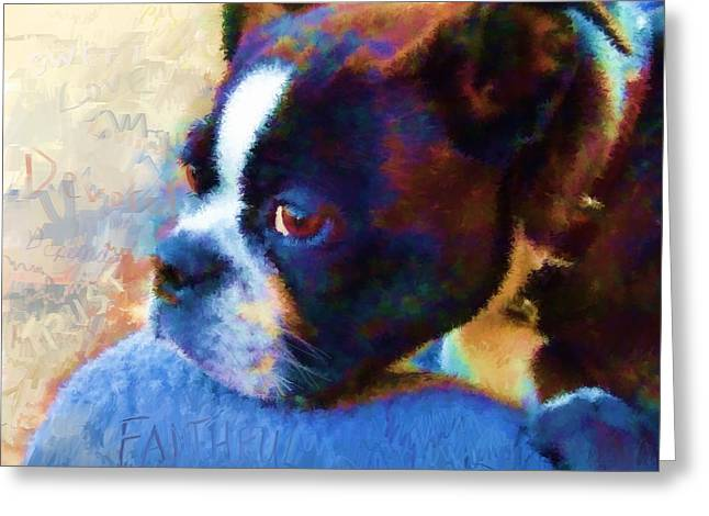 Sweet Boston Betty Greeting Card by Cindy Wright