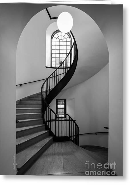 Sweet Briar College Cochran Library Stairwell Greeting Card by University Icons