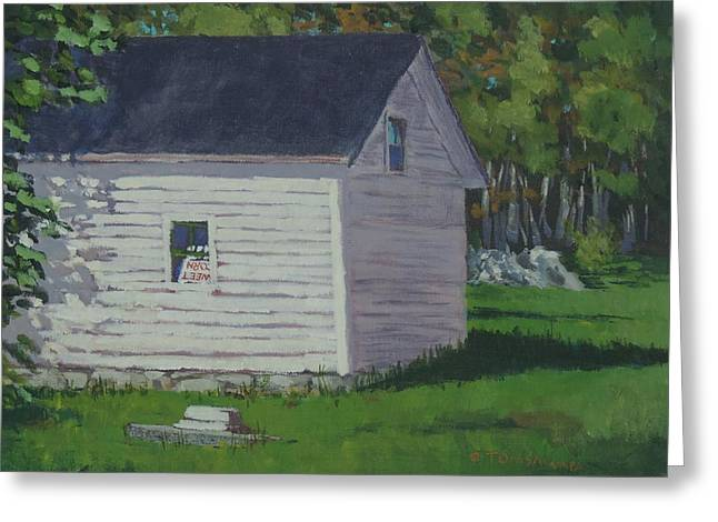 Maine Farms Greeting Cards - Sweet Corn Shed Greeting Card by Bill Tomsa