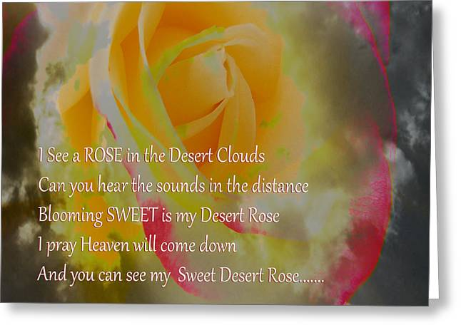 Sweet Touch Greeting Cards - SWEET Desert Rose Greeting Card by Beverly Guilliams