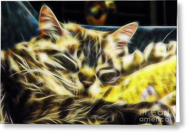 Best Seller Greeting Cards - Sweet Dreams Baby Girl Greeting Card by D Hackett