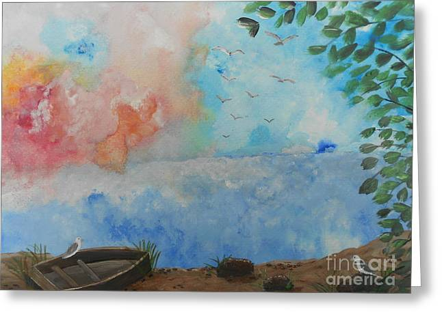 All Occasion Card  Greeting Cards - Sweet Dreams Greeting Card by Barbara McNeil