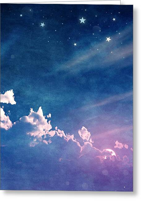 Night Time Sky Greeting Cards - Sweet Dreams Greeting Card by Cynthia Decker