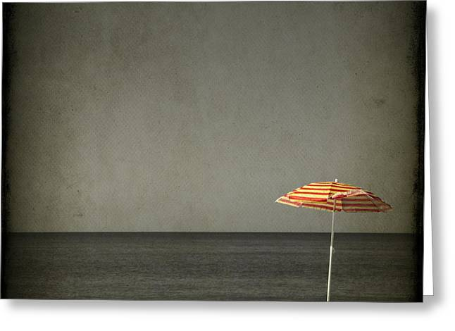 Beach Umbrellas Greeting Cards - Sweet Escape Greeting Card by Evelina Kremsdorf