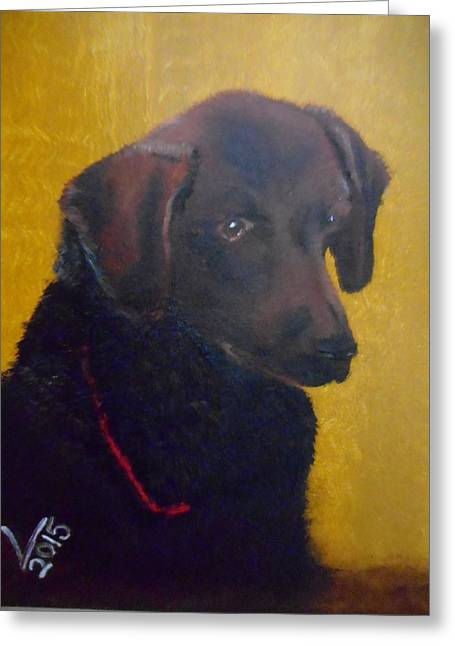Chocolate Lab Greeting Cards - Sweet Hershy Greeting Card by Valenteana J Chilsted
