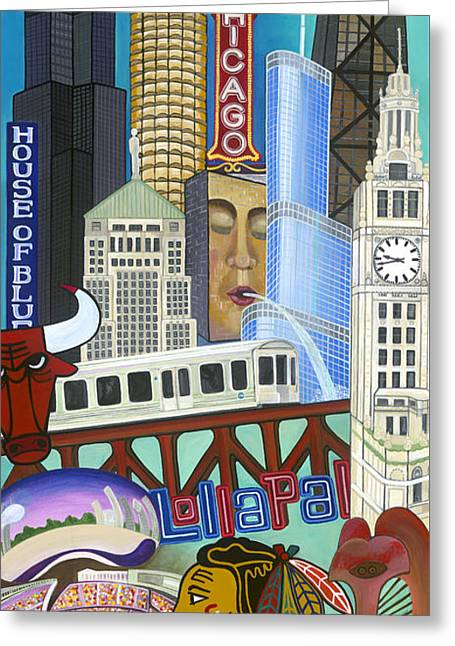 The Bean Greeting Cards - Sweet Home Chicago Greeting Card by Carla Bank