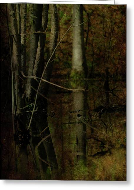 Moss Green Greeting Cards - Sweet is the Swamp Greeting Card by Rebecca Sherman
