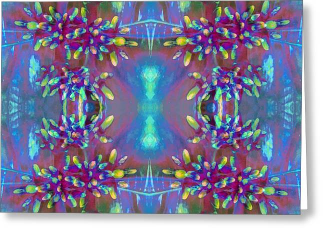Abstract Digital Tapestries - Textiles Greeting Cards - Sweet Ixora Greeting Card by Suzi Freeman