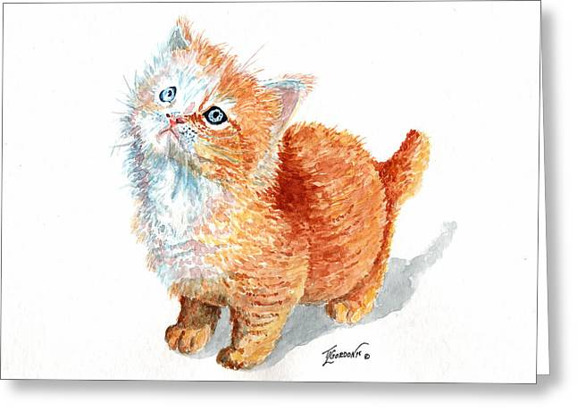 Sweet Kitty Greeting Card by Timithy L Gordon