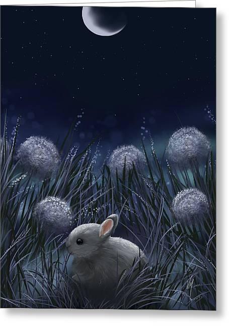 Sweet Night Greeting Card by Veronica Minozzi