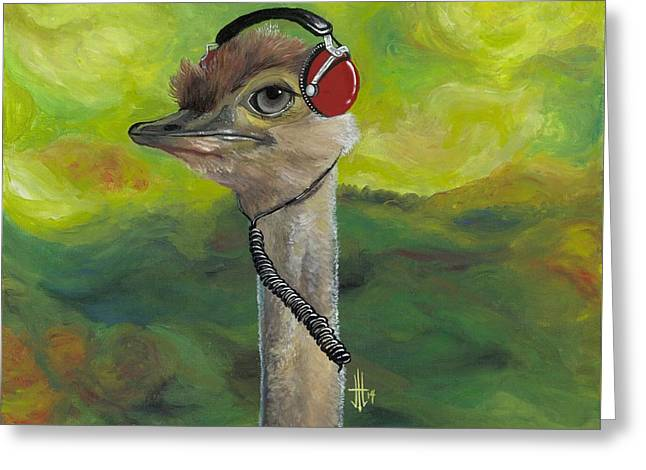 Sweet Pam The Jam Ostrich Greeting Card by Joshua Modlin