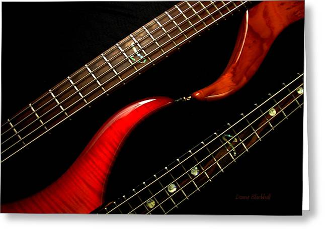 Guitar Strings Greeting Cards - Sweet Refrain Greeting Card by Donna Blackhall