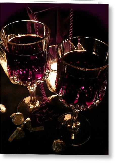 Candle Lit Greeting Cards - Sweet Seduction Greeting Card by Lori Seaman