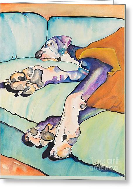 Sweet Sleep Greeting Card by Pat Saunders-White
