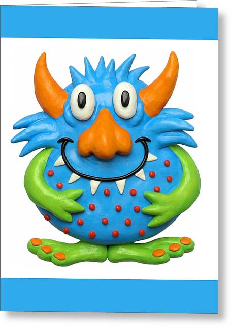 Sweet Spotted Monster Greeting Card by Amy Vangsgard